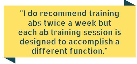training abs twice a week