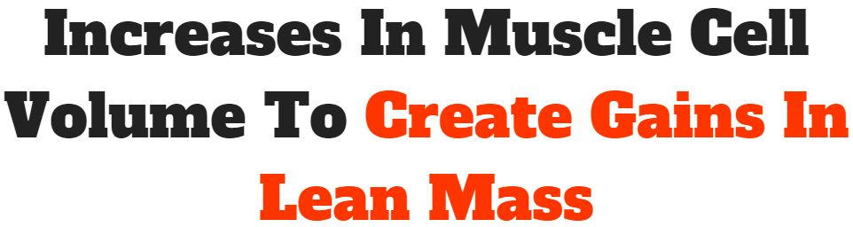 create gains in lean mass