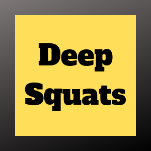 deep squatting activates the glutes