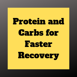 protein + carbs = better recovery