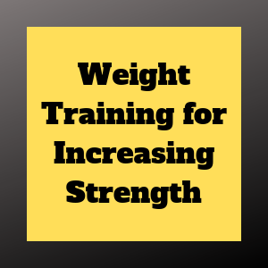 weight training for strength gains