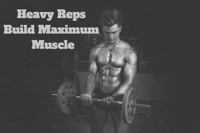 heavy reps build maximum muscle- curls
